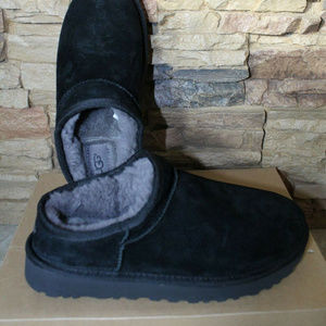 UGG CLASSIC SUEDE SHEARLING SLIPPERS NEW
